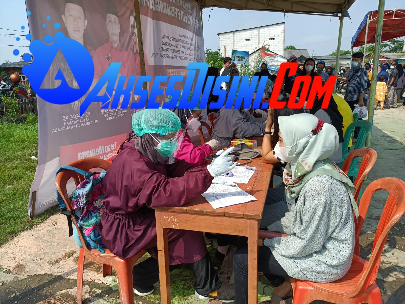 PDIP Fasilitasi Vaksin Warga Sekitar Bandara Soekarno-Hatta